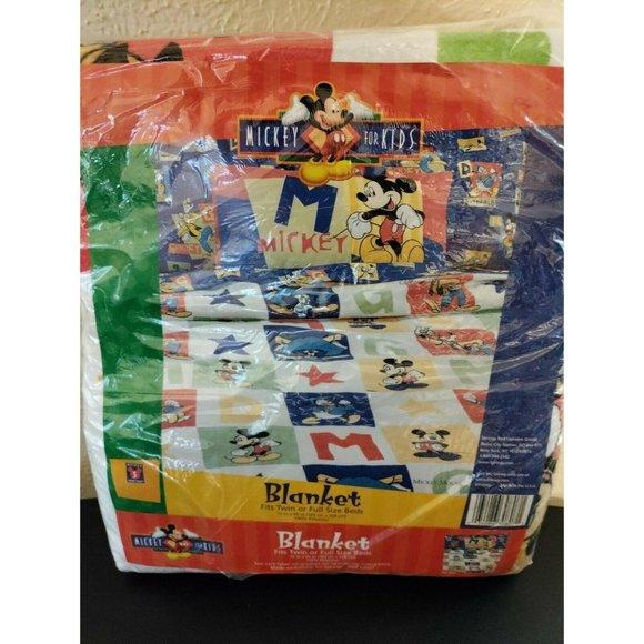 "Mickey Mouse Vintage 80s Kids Blanket 72"" x 90"""